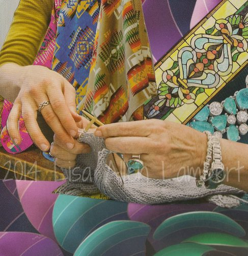 soul collage card hands making